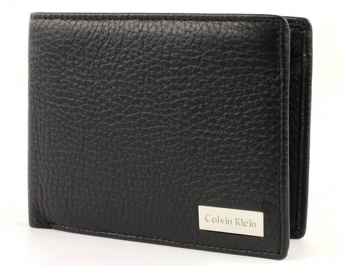 Calvin Klein Philippe Flap and Coin Pocket Black