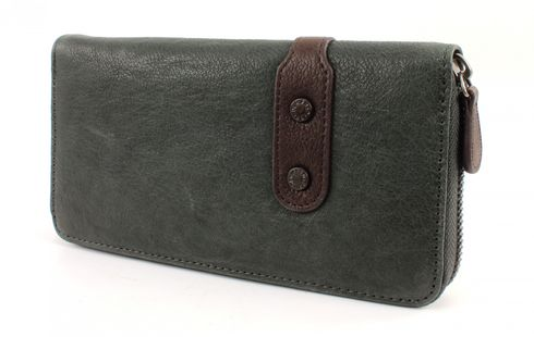 FREDsBRUDER Star Leather Börse Haze Petrol Grey