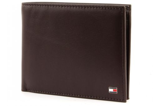 TOMMY HILFIGER Eton Trifold Wallet Brown