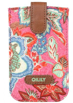 Oilily Jatin Flowers Smartphone Pull Case Rose