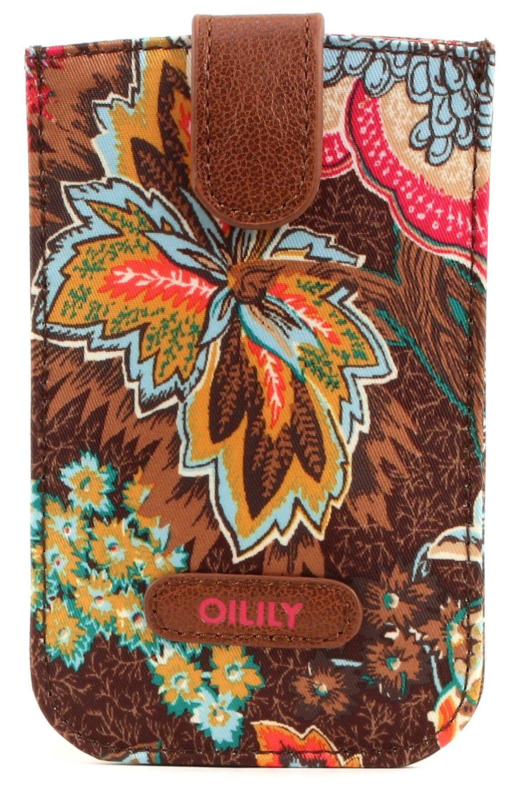 Oilily Jatin Flowers Smartphone Pull Case Bronze