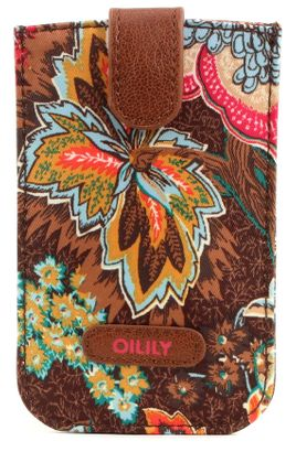 Oilily Jatin Flowers Smartphone Pull Case Bronze