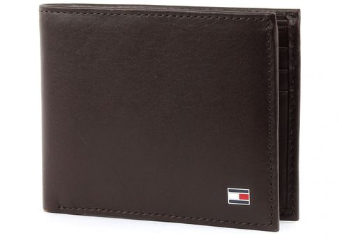 TOMMY HILFIGER Eton Mini CC Wallet Brown