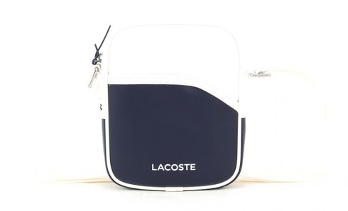 LACOSTE Small Vertical Camera Bag Peacoat White