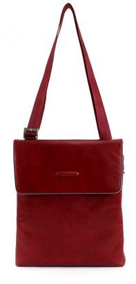 PIQUADRO Blue Square Shoulder Pocketbag with Flap Rosso