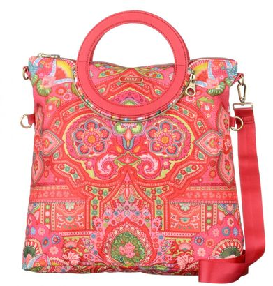 Oilily Folding City Shoulder Bag Raspberry
