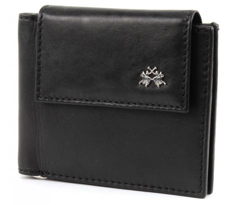LA MARTINA Rio Tortoni Dollar Wallet with Flap Black