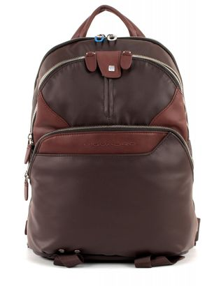 PIQUADRO Coleos Laptop Backpack Testa di Moro