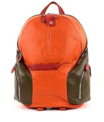 PIQUADRO Coleos Expandable Laptop Backpack Arancio