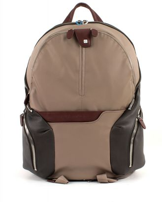 PIQUADRO Coleos Expandable Laptop Backpack Tortora