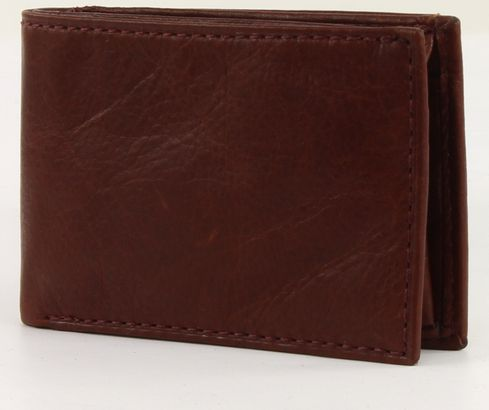 Fossil Ingram Coin Pocket Bifold Wine