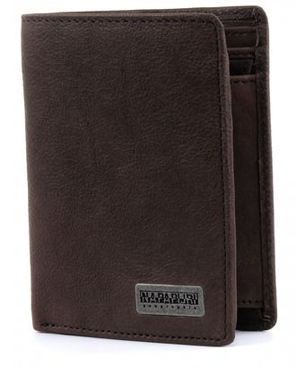 NAPAPIJRI Molde Washed Vertical Wallet Coinpocket Dark Brown