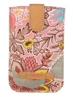 Oilily Botanical Garden Smartphone Pull Case Coral