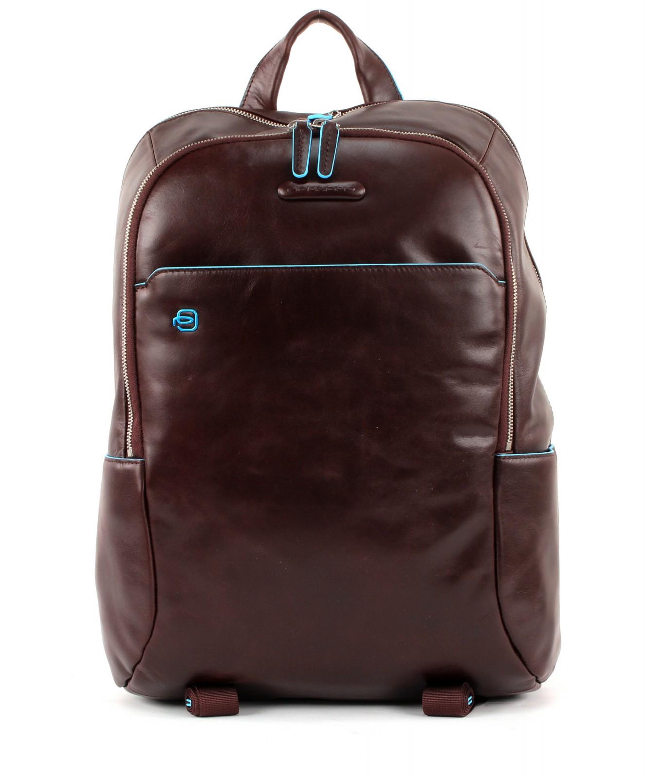 PIQUADRO Blue Square Laptop Backpack Mogano