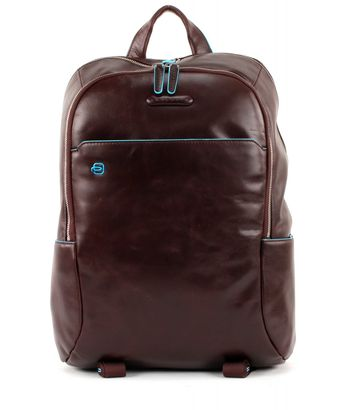 PIQUADRO Blue Square Laptop Backpack Mogano