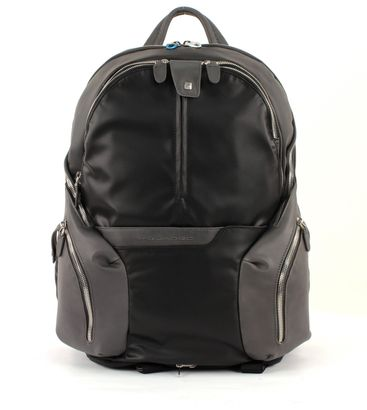 PIQUADRO Coleos Expandable Laptop Backpack Nero
