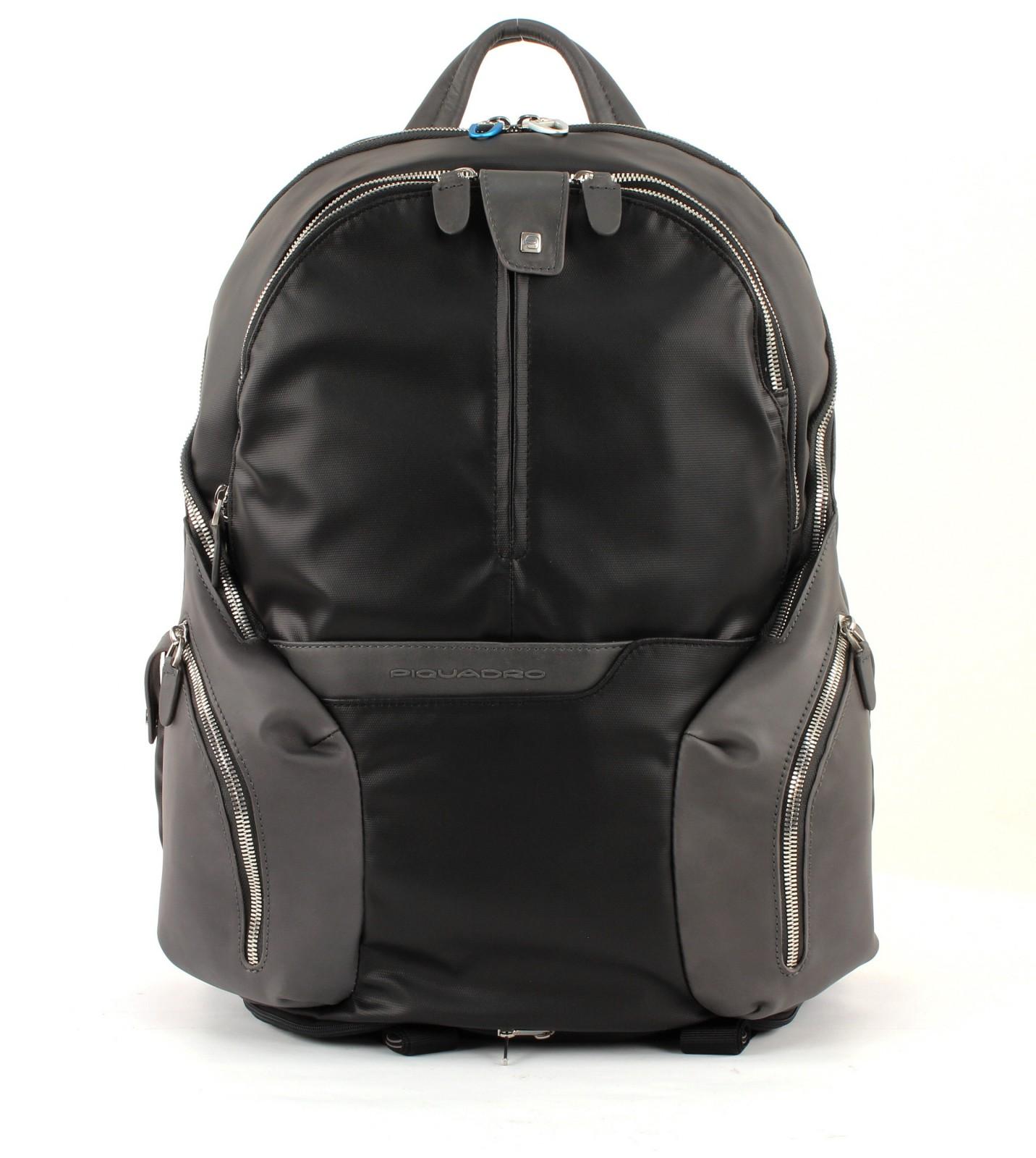 PIQUADRO Coleos Expandable Laptop Backpack Nero