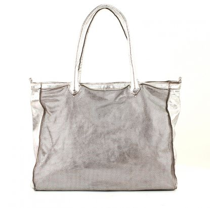 CATERINA LUCCHI Laser Graphic Shoulderbag Silver