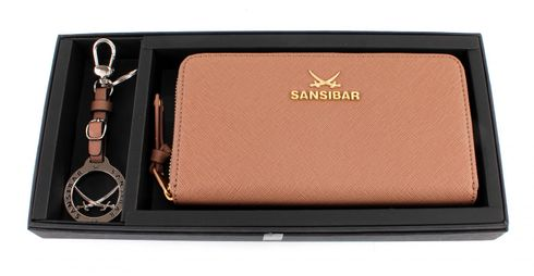 Sansibar Chic Gift Box Set Zip Wallet / Keychain Taupe