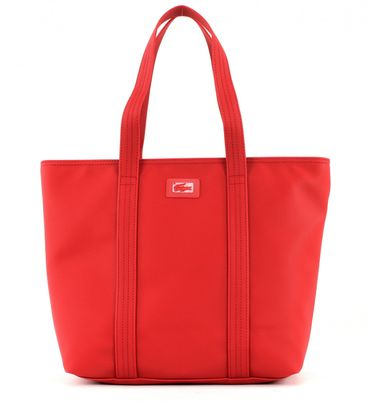 LACOSTE Women's Classic Medium Shopping Bag Flame Scarlet