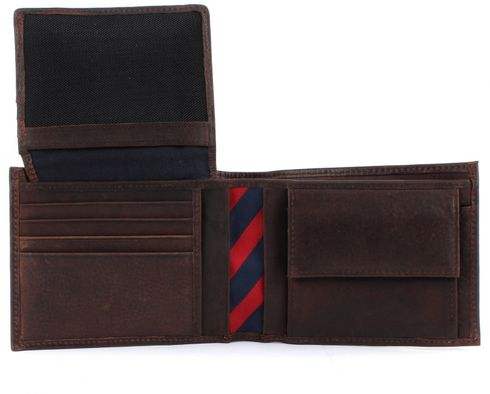 tommy hilfiger purse johnson cc flap and coin pocket brown. Black Bedroom Furniture Sets. Home Design Ideas