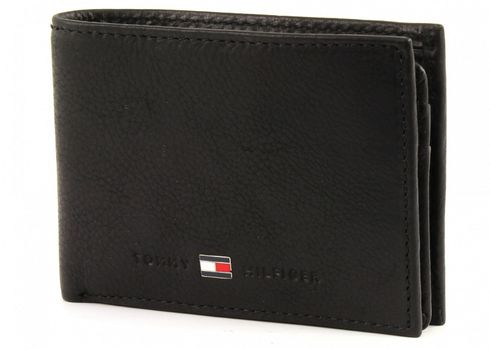TOMMY HILFIGER Johnson Mini CC Flap and Coin Pocket Black