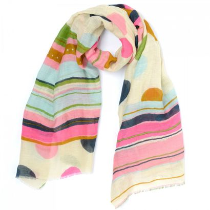 Oilily Painted Stripe Shawl Sand