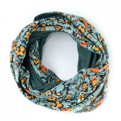 Oilily Camo Flowers Loop Blue Mist