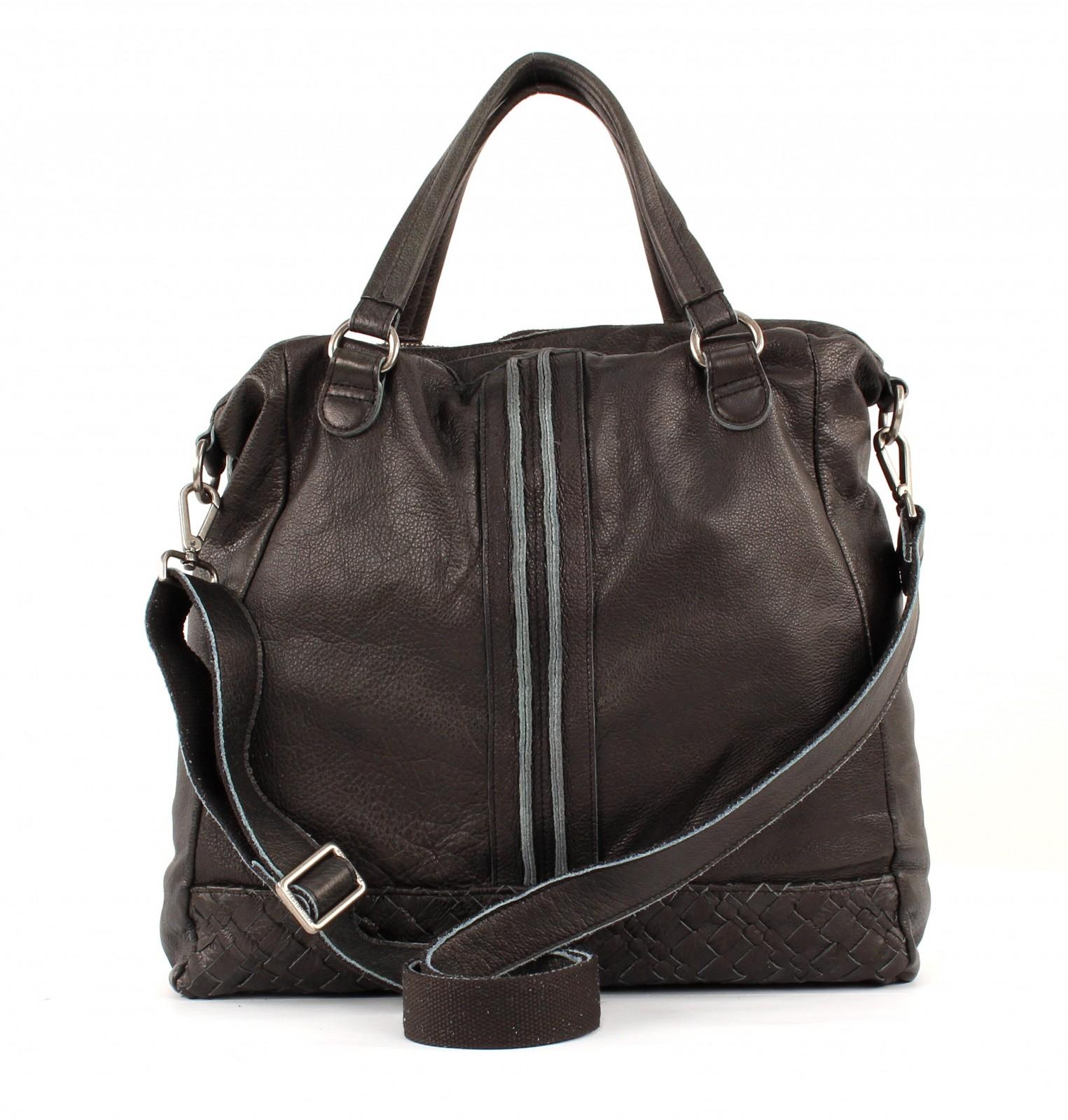 Weave Schwarz Big Zu Fredsbruder Foxy Leder Handtasche Damen Umhängetasche Tasche Details RqLj5cA34