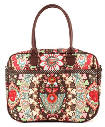 Oilily Travel Paisley Office Bag Brown