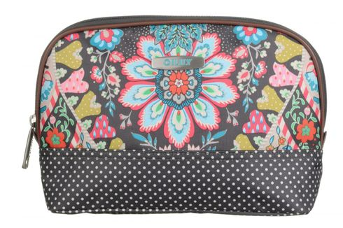 Oilily Travel Paisley M Toiletry Bag Charcoal