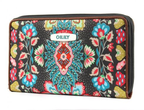 Oilily Travel Paisley Organizer Wallet Charcoal