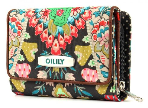 Oilily Travel Paisley S Wallet Charcoal