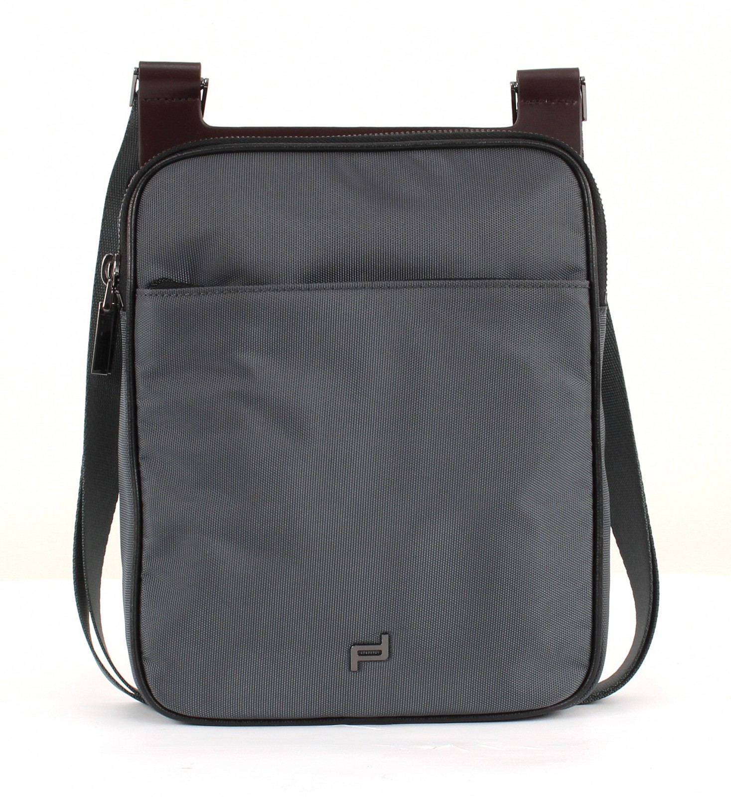 porsche design shyrt nylon shoulderbag mv tasche umh ngetasche dark grey grau ebay. Black Bedroom Furniture Sets. Home Design Ideas