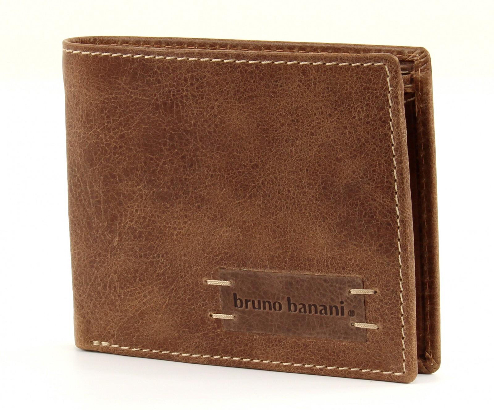 bruno banani Vista Slim Wallet Quer Cognac / Brown