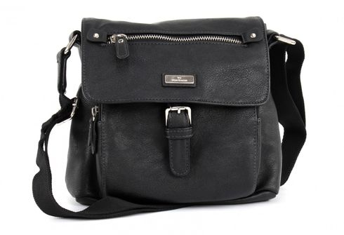 TOM TAILOR Rina PU Shoulderbag with Flap Black