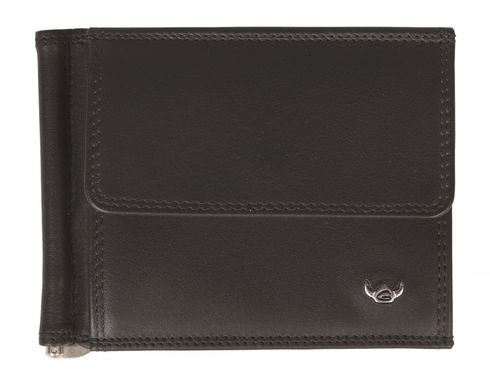 Golden Head Polo Money Clip Billfold Wallet Black