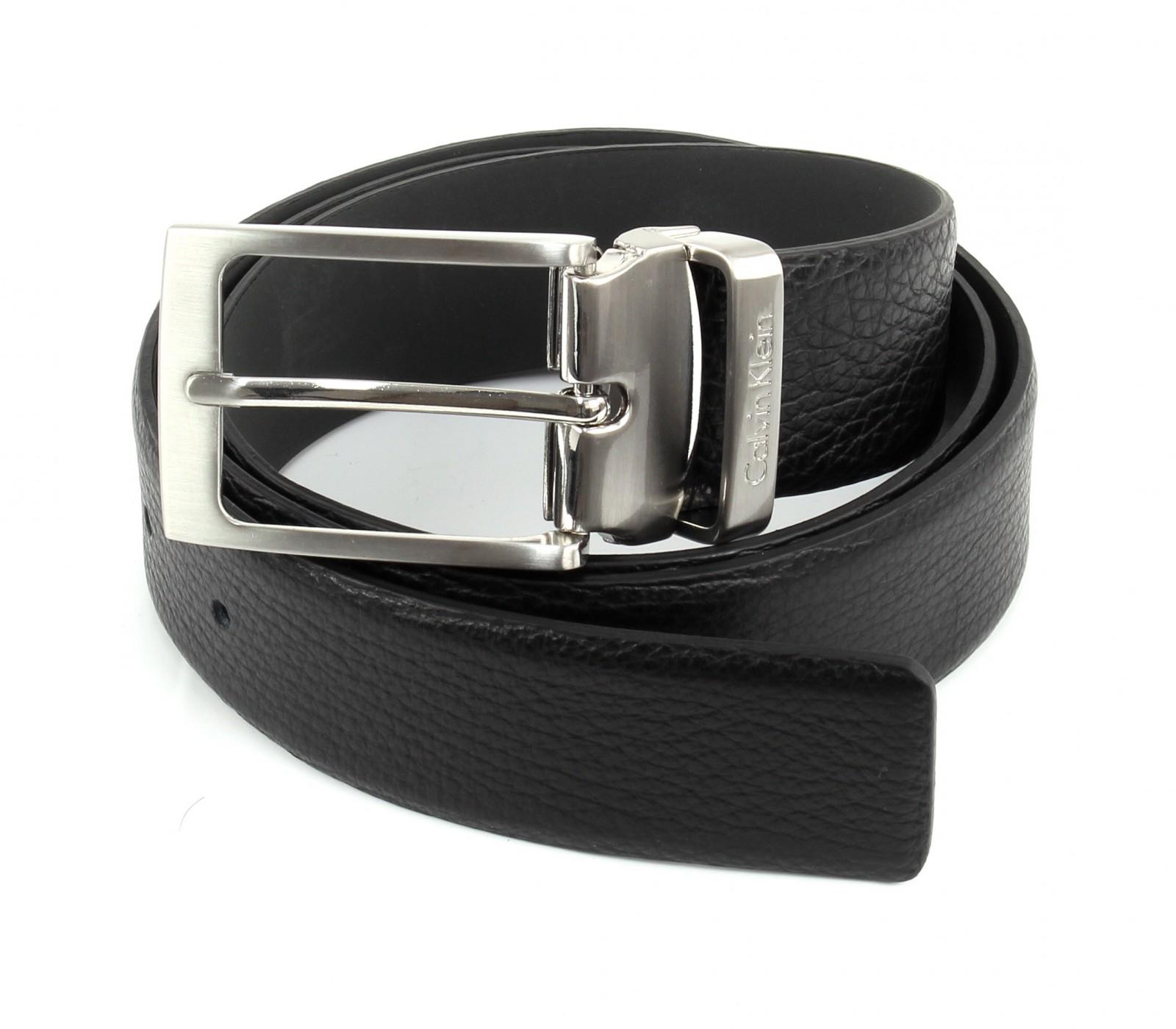 Calvin Klein Stand Alone Adjustable Pebble Belt W110 Black