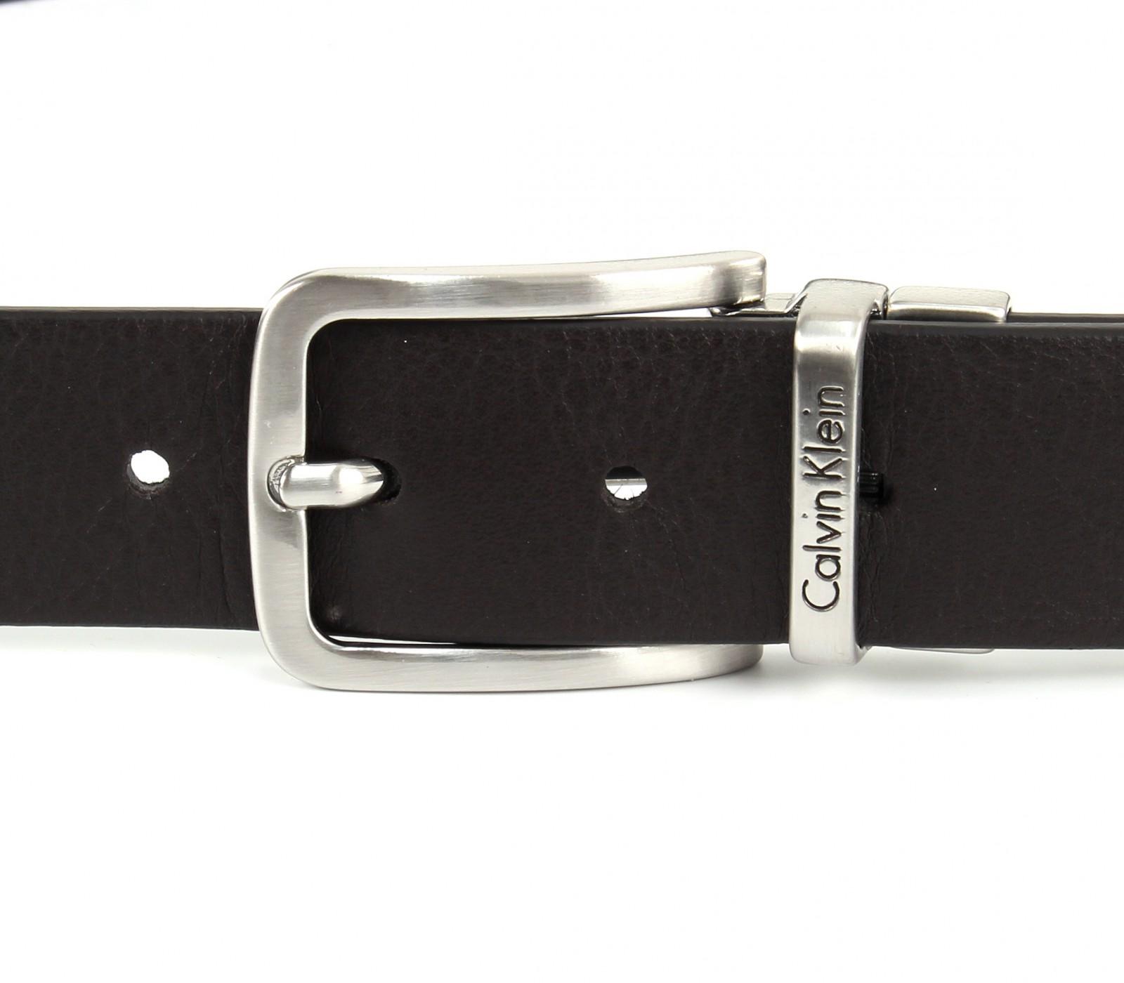 Calvin Klein Mino Reversible Belt W100 Dark Brown / Navy