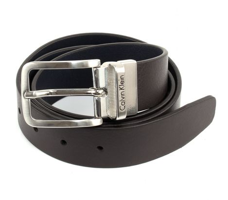 Calvin Klein Mino Reversible Belt W100 Dark Brown / Navy
