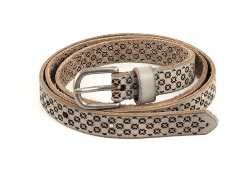 COWBOYSBELT Belt 209107 W85 Light Grey