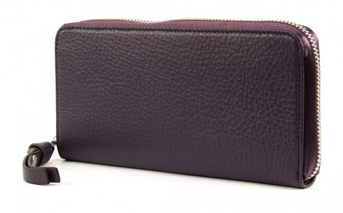 GEORGE GINA & LUCY Leather Nown Waletta Wallet Purplesilver