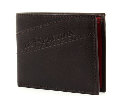 LA MARTINA San Juan Classic Wallet Dark Brown