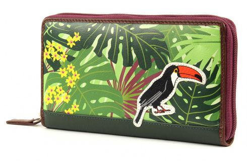 CHIEMSEE Jungle Leather Wallet Dark Green