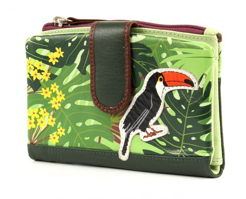 CHIEMSEE Jungle M Leather Wallet Dark Green
