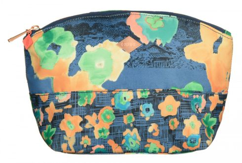 Oilily Etch Flowers M Pouch Blueberry