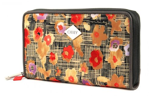 Oilily Etch Flowers Travel Wallet Biscuit
