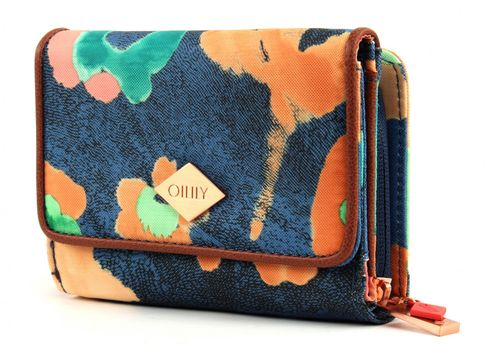 Oilily Etch Flowers S Wallet Blueberry