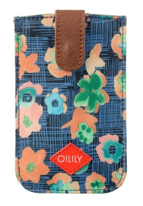Oilily Etch Flowers Smartphone Pull Case Blueberry