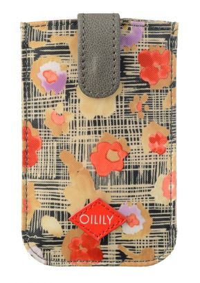 Oilily Etch Flowers Smartphone Pull Case Biscuit